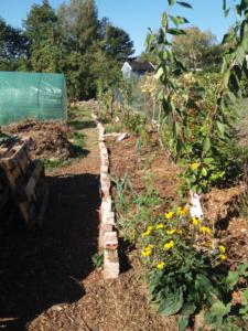gepflanzte Bäume und Büsche als Pufferzone