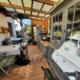 Blick in die fertige Outdoorküche